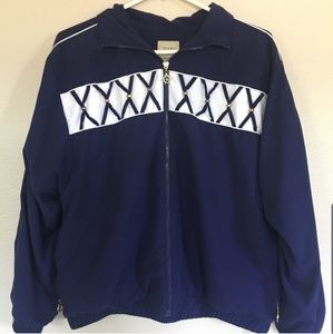Teddi Vintage Bomber Jacket Sail Boat Wheel Zipper